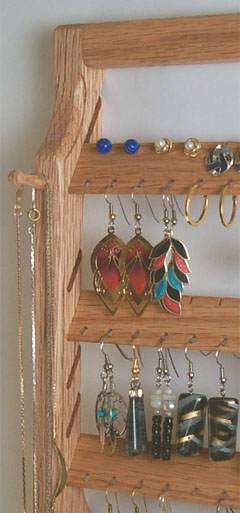Oak Earring Holder for Organizing Earrings